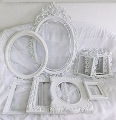 Lot of Vintage Antique Chic White Rococo Style Shabby Frame Ornate Decor Wall | eBay