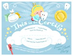 FREE : Tooth Fairy Certificate from Hallmark