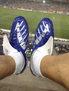 5c50a2596fc Addidas boots...blue of course Boots