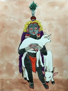 Vaatsalya series. #krishnafortoday #watercolor