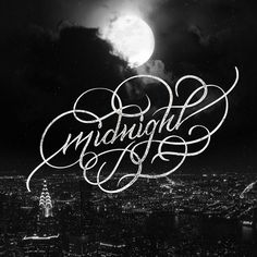 Midnight City | Beautiful Type | Pinterest