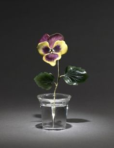 Pansy, late 1800s - early 1900s  firm of Peter Carl Fabergé (Russian, 1846-1920)  gold, jade, enamel, rock crystal, Overall - h:11.80  w:4.80 cm (h:4 5/8  w:1 7/8 inches).