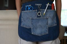 Make a denim apron with fun pockets
