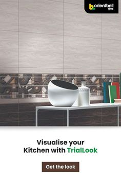 If you're tired of the same old plain walls in your kitchen, be it in your home or a commercial one, try out this durable, easy to clean and unique patterned tile. See how it looks in your space with the Trialook visualiser tool. #kitchentiles #kitchenideas #redecor #artistictiles #kitchenwalls
