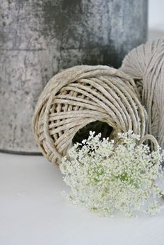 From Twine & Company, in Tuscumbia Queen Anne's Lace Flowers, Purple Flowers, White Flowers, Sisal, Vibeke Design, Cow Parsley, Still Life Photos, Beautiful Flowers, Beautiful Beds