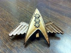 Steampunk Star Trek. Communicator with wings.