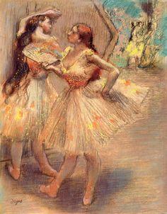 The Athenaeum - Dancers near a Set (Edgar Degas - )