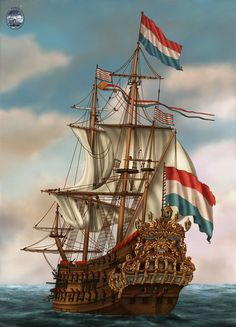 Sailing is the most important thing of Zeelandic history, well, that's what people think at least Anglo Dutch Wars, Bateau Pirate, Old Sailing Ships, Armadura Medieval, Ship Of The Line, Ship Drawing, Ship Paintings, Wooden Ship, Nautical Art