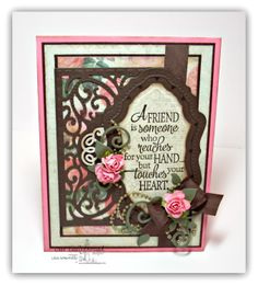 Designs by Lisa Somerville Quote Collection 4, Chalkboard Lattice Background, Vintage Flourish Pattern Die, Flourish Label Borders Die