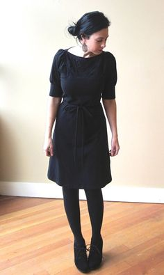 A Line Folded Dress Cotton Jersey Classic Style  made by outofline, $128.00