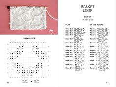 Easy and stunning! This Basket Loop Stitch Knitting Pattern is an easy pattern that creates an illusion of interwoven rings atop a background of vertical pillars. Knitting Help, Knitting Books, Knitting Charts, Easy Knitting, Knitting Stitches, Knitting Designs, Knitting Patterns Free, Knitting Projects, Stitch Patterns