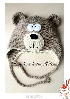 Teddy bear Baby Hats, Winter Hats, Crochet Hats, Teddy Bear, Handmade, Knitting Hats, Hand Made, Teddy Bears, Handarbeit