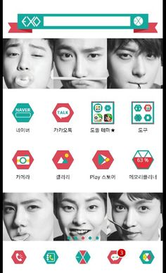 Exo!! Dodol launcher theme!!    #exo #smtown #kpop #exo-k #exo-m  #homescreen #custom #android #launcher #design #phone #theme #app #deco #엑소