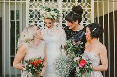Love this wedding feel... except the bride's hair/flowers and make-up.