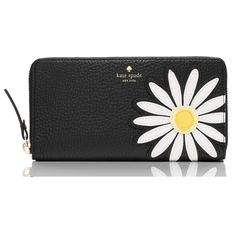 Kate Spade Down The Rabbit Hole Daisy Applique Lacey Multi Wallet