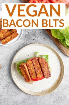 Vegan Tempeh Bacon BLTs. These BLT sandwiches are SO delicious! Homemade tempeh bacon with lettuce, tomato and creamy dairy-free mayo. | Delish Knowledge    | Vegan Sandwiches |#veganrecipes #vegansandwich #veganlunch #healthylunchrecipes Blt Recipes, Vegan Lunch Recipes, Egg Free Recipes, Vegan Breakfast Recipes, Vegan Dinners, Cooking Recipes, Easy Recipes, Tempeh Bacon, Vegan Casserole