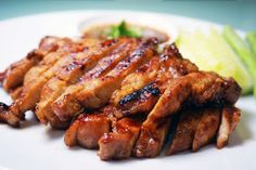 Thai Food Recipes: THAI GRILLED PORK