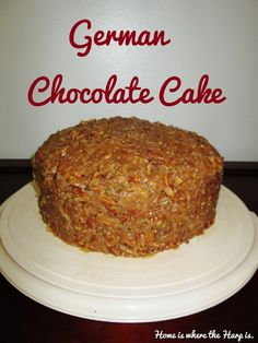 Home is where the Harp is.: German Chocolate Cake How to make moist, flavorful German Chocolate Cake from scratch.