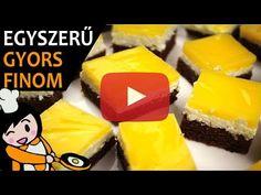 Fanta szelet (mirinda szelet) recept elkészítése - Recept Videók - YouTube Deserts, Cookies, Make It Yourself, Foods, Facebook, Pies, Bakeware, Cacao Powder, Dessert Ideas