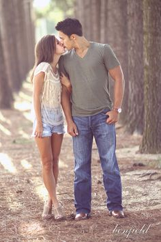 simple. beautiful. engagement photo.  her outfit is very cute. like how their outfts look together #Uncategorized