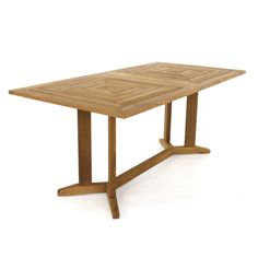 Pyramid 72in-6ft Long Rectangular Teak Patio Dinin from Westminster Teak Furniture