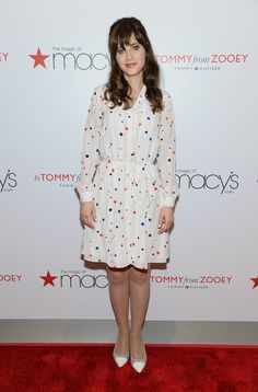 Pin for Later: There's No Slowing Down For Olivia Wilde's Feet Zooey Deschanel Zooey Deschanel at the Macy's Herald Square To Tommy From Zooey launch.