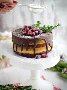 Dominostein-Torte mit Marzipan, Aprikosengelee und Lebkuchen / Marzipan cake with apricot marmelade and gingerbread. Christmas recipe