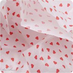 Seidenpapier, rote Herzen http://schoenherum.de #seidenpapier #tissuepaper