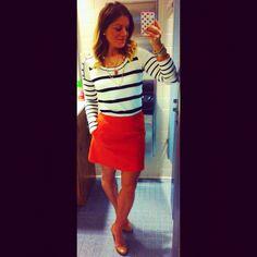 Orange and stripes, love!