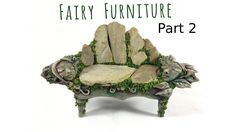How to Make Fairy Furniture Out of Clay & Rocks: Part DIY Fairy Garden Bench. Take your fairy furniture to the next level with this enchanting DIY fairy garden bench tutorial. I show you how to make natural looking fairy furniture using faux stone Indoor Fairy Gardens, Miniature Fairy Gardens, Fairy Gardening, Gardening Tips, Gardening Services, Gardening Gloves, Gardening Supplies, Container Gardening, Fairy Garden Furniture