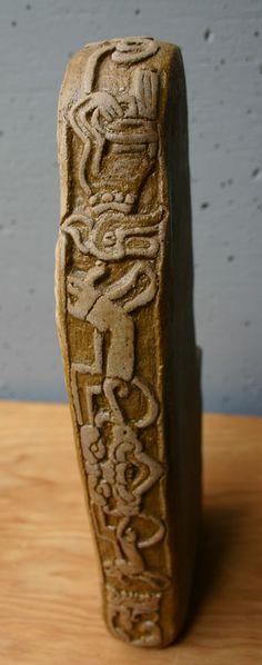 Bigfoot clay sculpture design details by Kathleen Scott