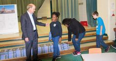 Architect Fred Reed with students at McGehee Elementary School during National Architecture Week 2016