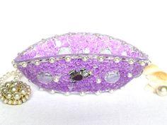 Schmuckaufbewahrung Schmuckschale lila Glasschale zur von LonasART