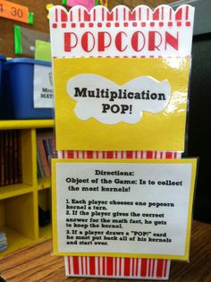 Multiplication Popcorn Game