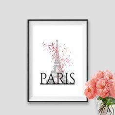 Pink Baloons Paris Print Eiffel tower Art Instant Download Paris Decor Wall Art Paris Black and white Tour Eiffel Poster Travel Print by AskPrintables on Etsy https://www.etsy.com/listing/230921823/pink-baloons-paris-print-eiffel-tower