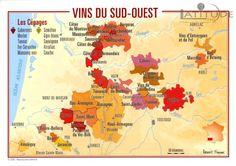 VINS DU SUD OUEST - Benoit France - Carte Postale - 9782843541933- Latitude360, librairie du voyage