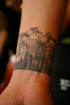 edward gorey wristband tattoo. #tattoo.
