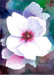 cherry blossom - watercolor painting - $35.00