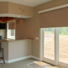 Flex Shades In The Kitchen And Over Sliding Doors