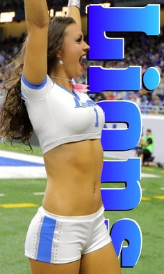 | Lions cheerleader | Jeopardy music plays softly. Answer: Effeminate acrobats, lady zebras, gorillas trimmed in pink. Question: What do the NFL and the circus have in common? Male Cheerleaders, Ad Libs, One Of The Guys, Hate Men, Guys And Dolls, Gender Bender, Detroit Lions, Patriarchy, Denial