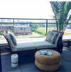 Boho balcony decor