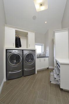 New Contemporary Energy Efficient Home contemporary-utility-room