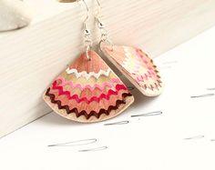 pencil shaving geometrical earrings
