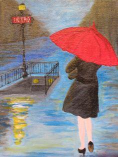 Rainy Stroll in Paris    Artist:    Thea David
