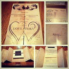 Harry Potter wedding invitations!! I'm kind of sad that I am already married :(