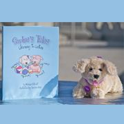 Sophie's Tales: Learning to Listen tells the story of Sophie, a little dog with hearing loss who gets a cochlear implant. The $30 Sophie Set includes cuddly companion Sophie with her cochlear implant, who loves reading with children and accompanying them to audiology visits and even cochlear implant surgeries! Get your Sophie set today at www.sophiestales.com