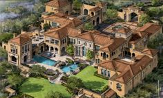 Mansions & More - Luxury Homes of The Incredible Arizona Mansion to be Built in 2014 Mansion Homes, Dream Mansion, Estate Homes, Spanish Mansion, Casa Hotel, Mega Mansions, Luxury Mansions, Luxury Homes Dream Houses, Modern Mansion