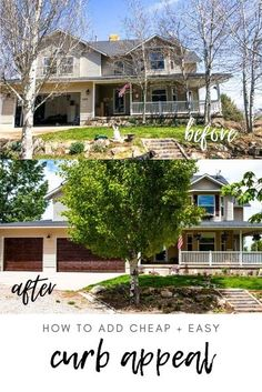 Looking for inexpensive easy ways to spruce up the exterior of your home? I've got you covered! Great ideas with before and after photos! via @longbournfarm