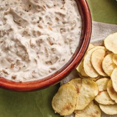 Healthy French Onion Dip (made with greek yogurt instead of sour cream!). I am obsessed with greek yogurt.