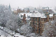 Зимняя улица Лондона, Великобритания
